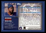 2000 Topps #135  Antowain Smith  Back Thumbnail
