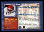 2000 Topps #114  Tony Richardson  Back Thumbnail