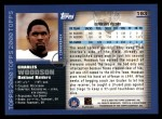 2000 Topps #193  Charles Woodson  Back Thumbnail