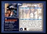 2000 Topps #176  Ed McCaffrey  Back Thumbnail
