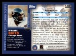 2000 Topps #138  D'Wayne Bates  Back Thumbnail