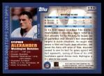 2000 Topps #173  Stephen Alexander  Back Thumbnail