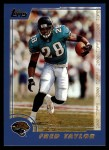 2000 Topps #30  Fred Taylor  Front Thumbnail