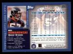 2000 Topps #283  Bill Romanowski  Back Thumbnail