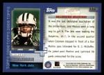 2000 Topps #332   -  Marcus Coleman Millennium Milestones Back Thumbnail