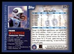 2000 Topps #243  Frank Wycheck  Back Thumbnail