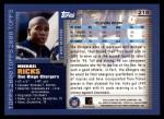 2000 Topps #218  Mikhael Ricks  Back Thumbnail