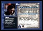 2000 Topps #320   -  Tyrone Wheatley  Highlights Back Thumbnail