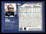 2000 Topps #214  Fred Lane  Back Thumbnail