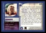 2000 Topps #345   -  Pat Barnes Eminant Prestige Back Thumbnail