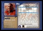 2000 Topps #257  Joe Horn  Back Thumbnail