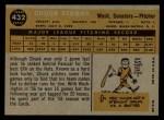 1960 Topps #432  Chuck Stobbs  Back Thumbnail