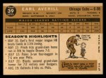 1960 Topps #39  Earl Averill Jr.  Back Thumbnail