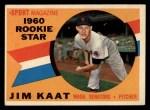 1960 Topps #136   -  Jim Kaat Rookie Star Front Thumbnail