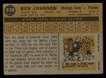 1960 Topps #528  Ben Johnson  Back Thumbnail