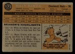 1960 Topps #173  Billy Martin  Back Thumbnail