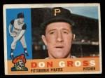 1960 Topps #284  Don Gross  Front Thumbnail