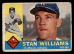 1960 Topps #278  Stan Williams  Front Thumbnail