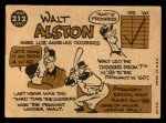 1960 Topps #212  Walter Alston  Back Thumbnail