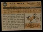 1960 Topps #288  Bob Mabe  Back Thumbnail