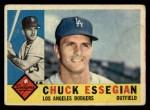 1960 Topps #166  Chuck Essegian  Front Thumbnail