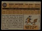 1960 Topps #348  Barry Shetrone  Back Thumbnail