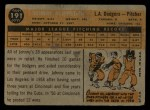1960 Topps #191  Johnny Klippstein  Back Thumbnail