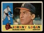 1960 Topps #205  Johnny Logan  Front Thumbnail