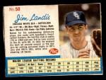 1962 Post #50  Jim Landis   Front Thumbnail