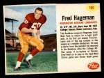 1962 Post #190  Fred Hageman  Front Thumbnail