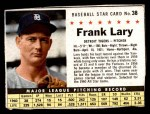 1961 Post #38 BOX Frank Lary   Front Thumbnail