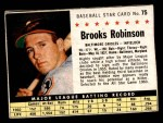 1961 Post Cereal #75 BOX Brooks Robinson   Front Thumbnail