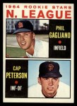 1964 Topps #568   -  Phil Gagliano / Cap Peterson NL Rookies Front Thumbnail