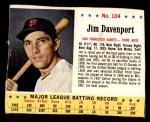 1963 Jello #104  Jim Davenport  Front Thumbnail