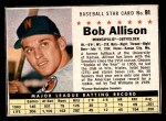 1961 Post Cereal #91 BOX Bob Allison  Front Thumbnail