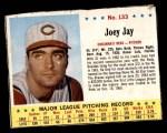 1963 Jello #133  Joey Jay  Front Thumbnail