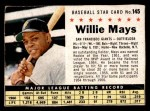 1961 Post #145 BOX Willie Mays   Front Thumbnail