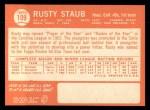 1964 Topps #109  Rusty Staub  Back Thumbnail
