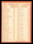 1964 Topps #6   -  Camilo Pascual / Jim Bunning / Dick Stigman AL Strikeout Leaders Back Thumbnail