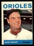 1964 Topps #178  Hank Bauer  Front Thumbnail