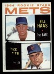 1964 Topps #398   -  Bill Haas / Dick Smith Mets Rookies Front Thumbnail