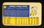 1970 Topps Super #6  Larry Dierker  Back Thumbnail