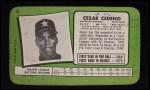 1971 Topps Super #15  Cesar Cedeno  Back Thumbnail