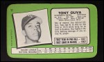 1971 Topps Super #11  Tony Oliva  Back Thumbnail