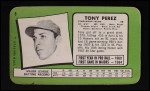 1971 Topps Super #6  Tony Perez  Back Thumbnail