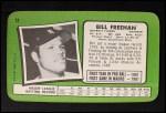 1971 Topps Super #12  Bill Freehan  Back Thumbnail