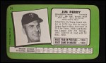 1971 Topps Super #24  Jim Perry  Back Thumbnail