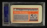 1970 Topps Super #1  Fran Tarkenton     Back Thumbnail