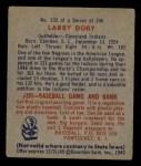 1949 Bowman #233  Larry Doby  Back Thumbnail