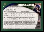 2002 Topps #50  Anthony Thomas  Back Thumbnail